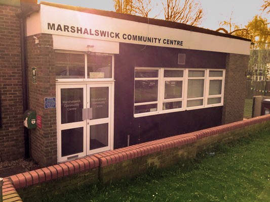The entrance to Marshalswick Community Centre